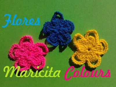 "Crochet Tutorial Flor ""Tima""  Flower por Maricita Colours Subtitles English & Deutsch"