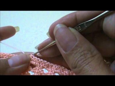 Crossed Triple Crochet Skirt Finishing