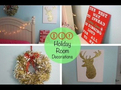❄ DIY December ❄ | Holiday Room Decorations
