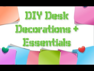 DIY Desk Decorations + Essentials | Simple Calendar | Upcycle Cereal boxes |