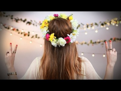 DIY Fashion | Beautiful Floral Crown For Music Festivals | Designer DIY