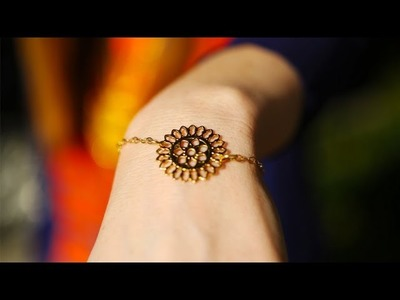 DIY Fashion | Delicate Chain Bracelet | Designer DIY