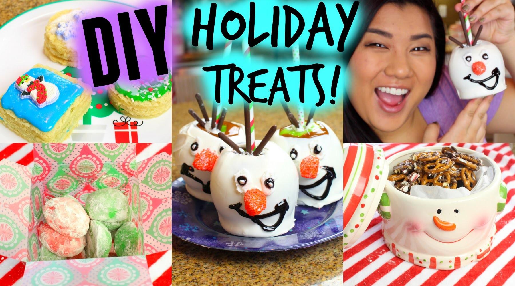 DIY HOLIDAY TREATS!! Olaf Caramel Apples, Cookies, & More!