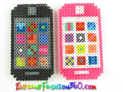 DIY Perler.Hama Beads Iphone 3D - How to  Tutorial