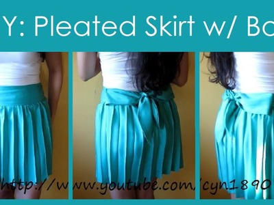 DIY Pleated Skirt with Bow