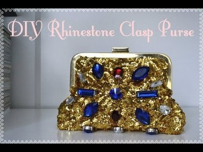 DIY Rhinestone Clasp Clutch Purse