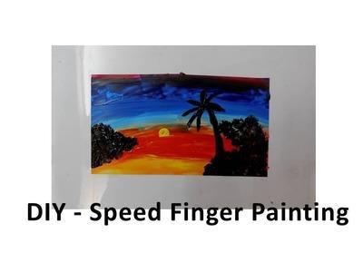 DIY - Speed Finger Painting