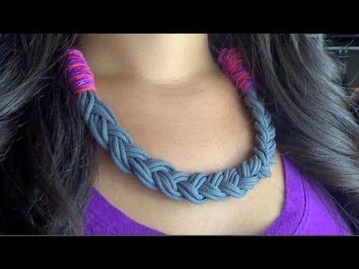 DIY Statement Necklace: Parachute Cord