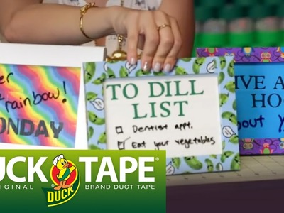 Duck Tape Craft Ideas: How to Make a Dry Erase Calendar