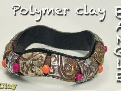 Easy Polymer Clay wavy Bangle tutorial - DIY Bracelet