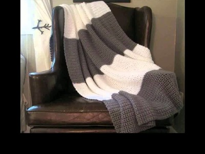 Easy to crochet blanket unique look