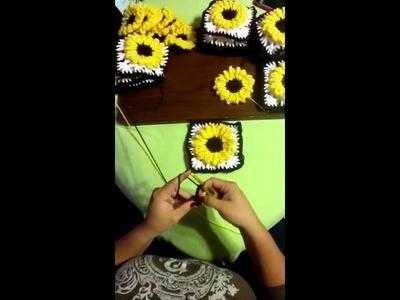 Girasol en crochet video # 1