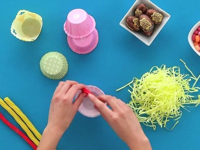 HERSHEY'S - Easter Craft - Cupcake Paper Table Placeholders