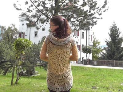 How to #crochet a circular jacket