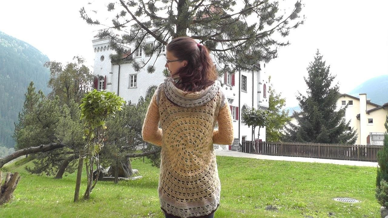 How to #crochet a circular jacket