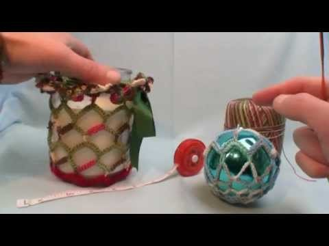 How To Crochet Christmas Candle Covers