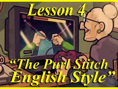 *HOW TO KNIT* Beginners Lesson 4 of 6. The Purl Stitch English Style