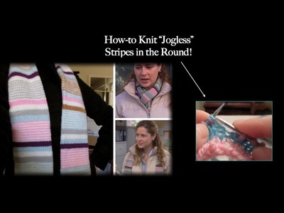 """How to Knit Straight """"Jogless"""" Stripes in the Round"""