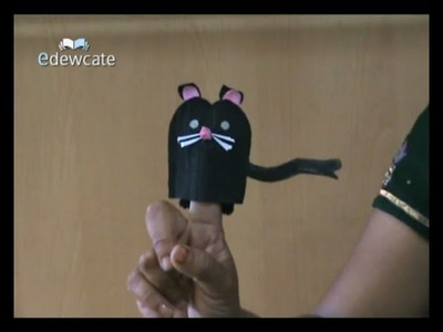 How to make a mouse finger puppet