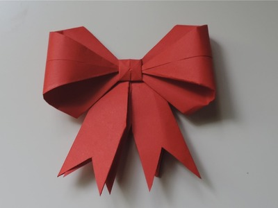 How To Make A Paper Bow. Ribbon . (Full HD)