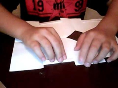 How to make an origami paper wallet easy way