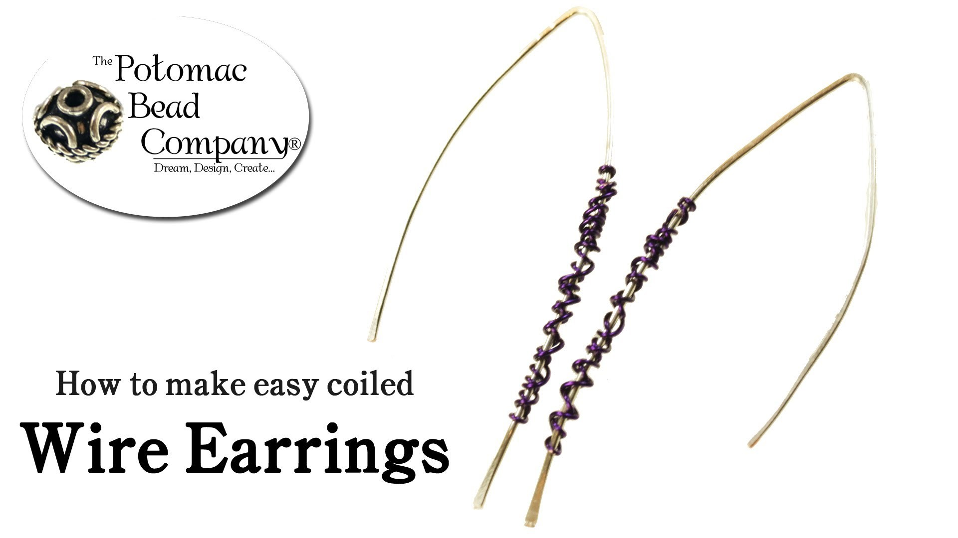 How to Make Easy Coiled Wire Earrings