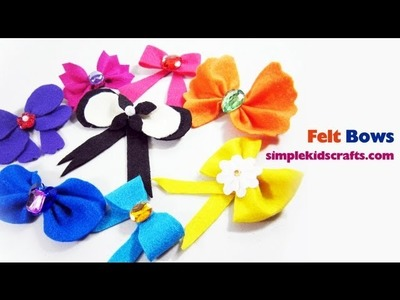 How to make felt bows different styles with FREE templates included - EP
