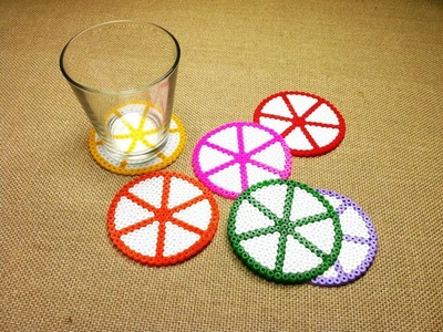 How to Make Plastic Bead Coasters using Hama Beads (DIY Tutorial)