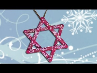 Ideas to decorate Christmas. Star craft for children