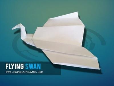 Let's make an Easy Paper Plane that flies far | Flying Swan ( Tri Dang )
