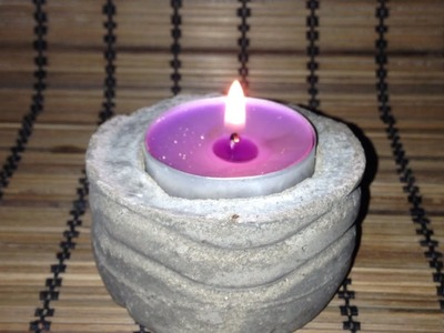 Make a Unique Cement Candle Holder - DIY  - Guidecentral