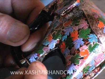 Making of Decorative Papier Mache Craft in Kashmir