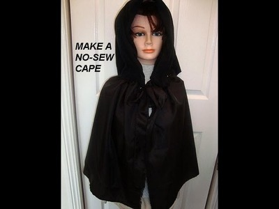 QUICK NO SEW CAPE, how to diy, witch cape, super hero, Red Riding Hood, dracula, wizards