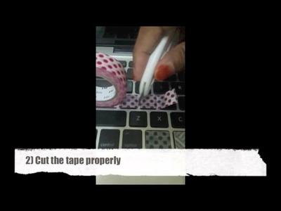 Washi Tapes DIY (Laptop Keyboard Tutorial)