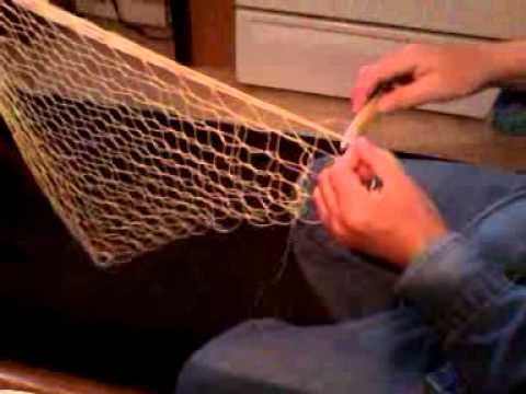 WORKING AT HOME, SEAMING THE CRAB NET, VIDEO 3
