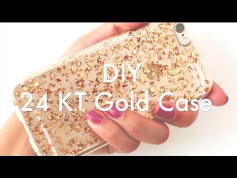 24 KT Gold iPhone 6 Case Tutorial   DIY