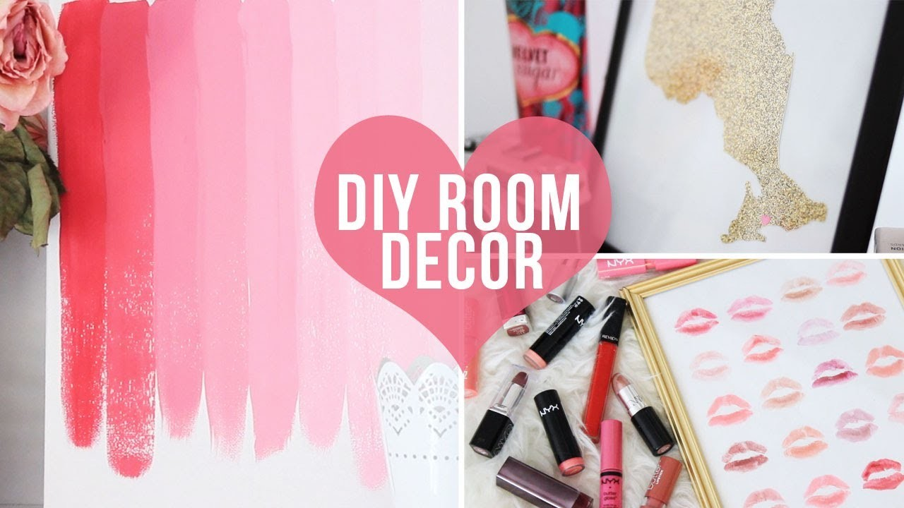 ♡ 3 Easy Room Decor.Wall Art DIYs♡ | LaurDIY