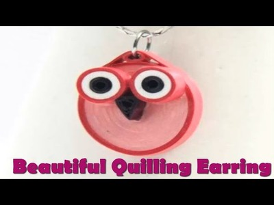 Art & Craft  How to make Beautiful Quilling Earrings Paper Quilling Art  Quilling Made Easy