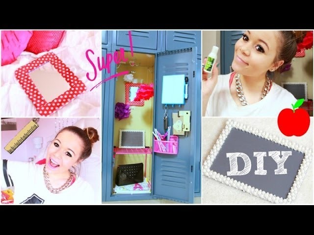 Back To School: Locker Organization + DIY Decorations! | Krazyrayray