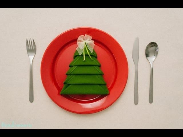 Christmas Tree Napkin Folding