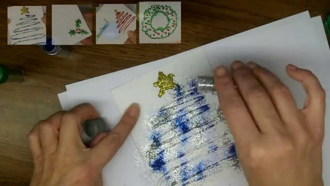 Craft: How to make Glittery Sparkling Christmas Cards [Part 2]