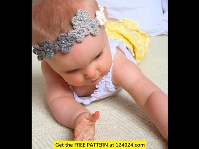 Crochet baby girl headband