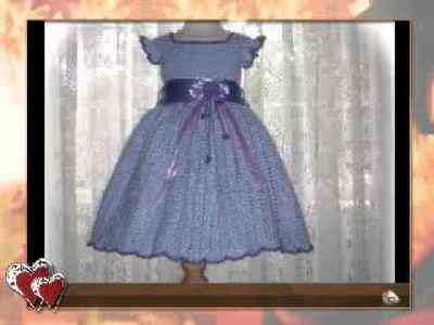 Crochet Pattern Children Dress - Alissa's Autumn Glory