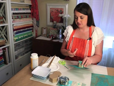 Decorative Papers to Cover a Paper Mache Box : Crafting Techniques