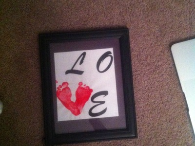 DIY Baby Footprint Frame