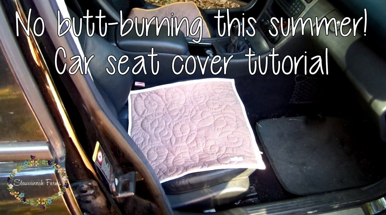 DIY Car Seat Cover Tutorial