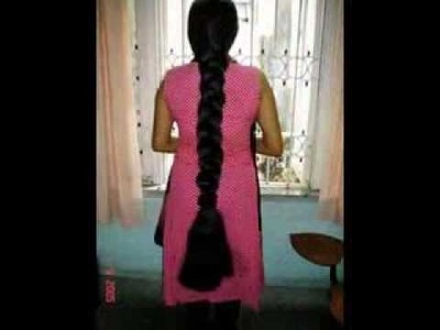DIY hairstyles - Tamil Nadu long hair girls looking beautiful and homely