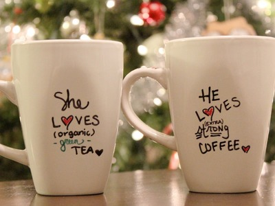 DIY Personalized mug + Holiday Gift Idea - C2C Day 6