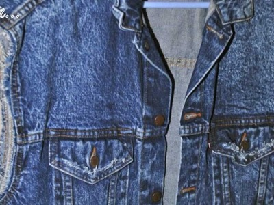 DIY: Turn your denim jacket into a denim vest and fray it