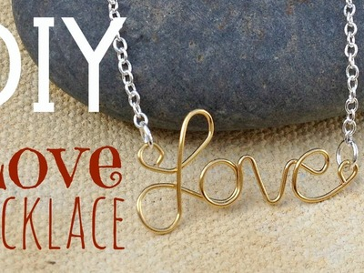 DIY Wire Name Necklace   by Michele Baratta